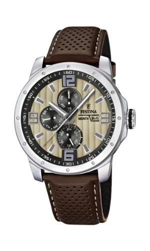 フェスティナ フェスティーナ スイス 腕時計 メンズ F16585/6 Festina Chrono Bike 2012 Men's Quartz Watch with Beige Dial Analogue Display and Brown Leather Strap F16585/6フェスティナ フェスティーナ スイス 腕時計 メンズ F16585/6