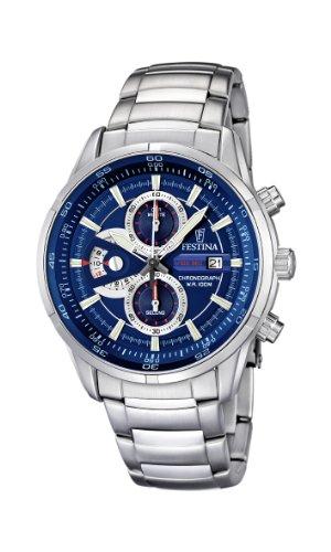 フェスティナ フェスティーナ スイス 腕時計 メンズ F6823/2 【送料無料】Festina Men's Quartz Watch with Blue Dial Chronograph Display and Silver Stainless Steel Bracelet F6823/2フェスティナ フェスティーナ スイス 腕時計 メンズ F6823/2