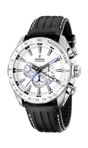 フェスティナ フェスティーナ スイス 腕時計 メンズ F16489/1 【送料無料】Festina Men's Stainless Steel White Dial Black Strap Chronograph Watch F16489/1フェスティナ フェスティーナ スイス 腕時計 メンズ F16489/1