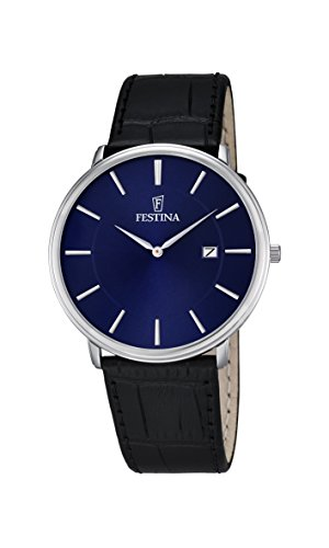 腕時計 フェスティナ フェスティーナ スイス メンズ F6839/4 【送料無料】Festina Men's Stainless Steel Quartz Watch with Leather Strap, Black, 21 (Model: F6839/4)腕時計 フェスティナ フェスティーナ スイス メンズ F6839/4
