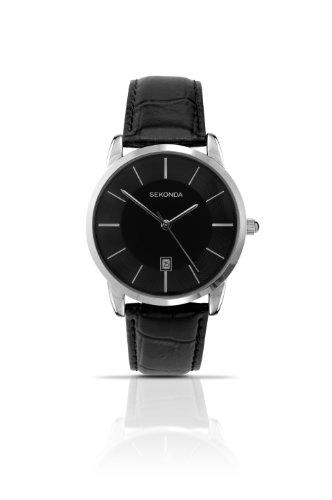 腕時計 セコンダ イギリス メンズ 3346.27 【送料無料】Sekonda Men's Quartz Watch with Black Dial Analogue Display and Black Leather Strap 3346.27腕時計 セコンダ イギリス メンズ 3346.27