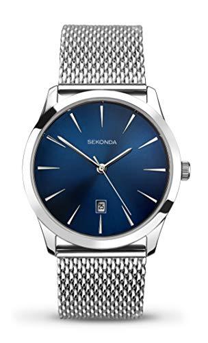 セコンダ イギリス 腕時計 メンズ 1065.27 【送料無料】Sekonda Men's Quartz Watch with Blue Dial Analogue Display and Silver Stainless Steel Bracelet 1065.27セコンダ イギリス 腕時計 メンズ 1065.27