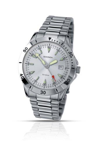 セコンダ イギリス 腕時計 メンズ 3278 Sekonda Men's Date Display Watch With Stainless Steel Bracelet 3278セコンダ イギリス 腕時計 メンズ 3278