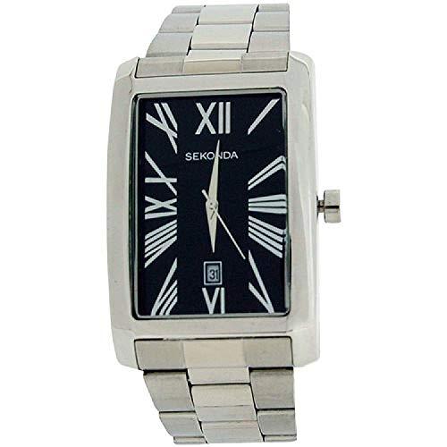 セコンダ イギリス 腕時計 メンズ 【送料無料】Sekonda Gents Analogue Black Dial Date Stainless Steel Strap Dress Watch 3634セコンダ イギリス 腕時計 メンズ
