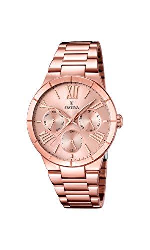 フェスティナ フェスティーナ スイス 腕時計 レディース F16718/2 【送料無料】Festina F16718-2 Ladies Rose Gold Plated Multifunction Watchフェスティナ フェスティーナ スイス 腕時計 レディース F16718/2
