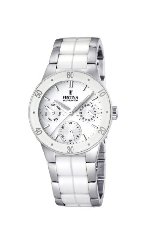 フェスティナ フェスティーナ スイス 腕時計 レディース F16530/1 【送料無料】Festina Ladies Multi-Function Watch F16530/1 with White Ceramic Inlayフェスティナ フェスティーナ スイス 腕時計 レディース F16530/1