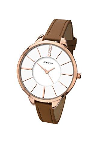 セコンダ イギリス 腕時計 レディース 2247.27 【送料無料】Sekonda Women's Quartz Watch with White Dial Analogue Display and Brown PU Strap 2247.27セコンダ イギリス 腕時計 レディース 2247.27