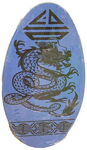 サーフィン スキムボード マリンスポーツ Sunspecs Rubber Top Wooden Skimboard With Slip Free Grip (No Wax Needed!) (Blue w/Dragon, 36 Inch)サーフィン スキムボード マリンスポーツ
