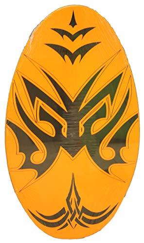 サーフィン スキムボード マリンスポーツ Sunspecs Rubber Top Wooden Skimboard With Slip Free Grip (No Wax Needed!) (Orange, 41 Inch)サーフィン スキムボード マリンスポーツ