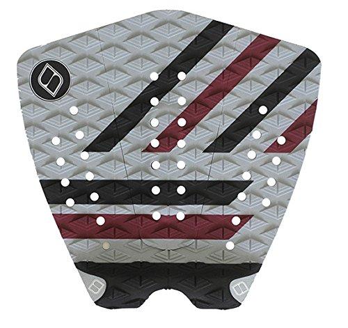 サーフィン デッキパッド マリンスポーツ 【送料無料】Shapers Tailpads Mod Series 3 Piece Traction Pad Black Grey (Burgandy 2)サーフィン デッキパッド マリンスポーツ