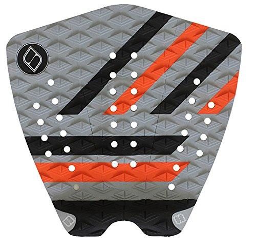 サーフィン デッキパッド マリンスポーツ Shapers Tailpads Mod Series 3 Piece Traction Pad Black Grey (Orange 2)サーフィン デッキパッド マリンスポーツ