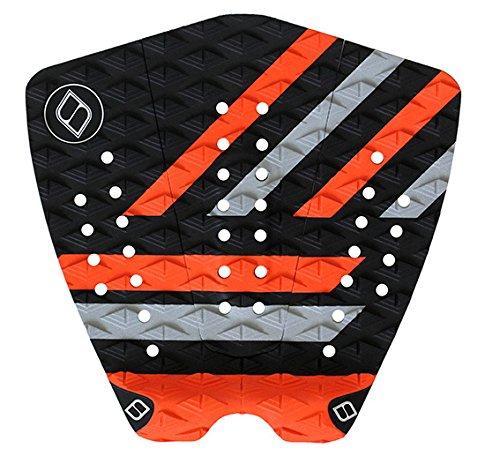 サーフィン デッキパッド マリンスポーツ Shapers Tailpads Mod Series 3 Piece Traction Pad Black Grey (Orange 3)サーフィン デッキパッド マリンスポーツ
