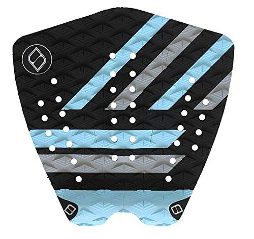 サーフィン デッキパッド マリンスポーツ Shapers Tailpads Mod Series 3 Piece Traction Pad Black Grey (Sky Blue 1)サーフィン デッキパッド マリンスポーツ