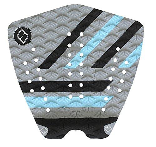 サーフィン デッキパッド マリンスポーツ Shapers Tailpads Mod Series 3 Piece Traction Pad Black Grey (Sky Blue 2)サーフィン デッキパッド マリンスポーツ