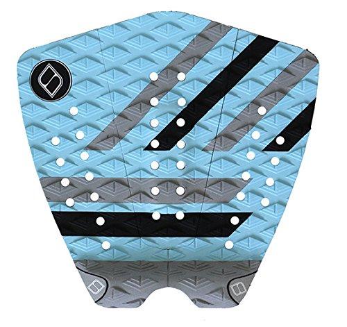 サーフィン デッキパッド マリンスポーツ Shapers Tailpads Mod Series 3 Piece Traction Pad Black Grey (Sky Blue 3)サーフィン デッキパッド マリンスポーツ
