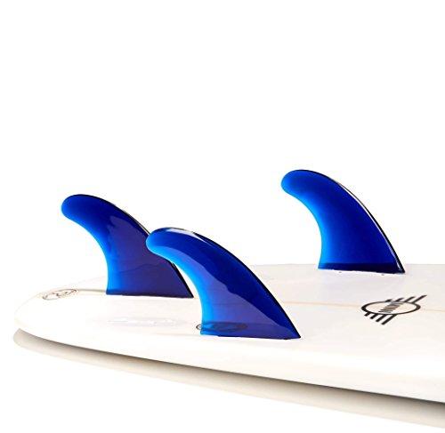 サーフィン フィン マリンスポーツ TRI-TRST-BLU 【送料無料】DORSAL Performance Flexrez Core Surfboard Thruster Surf Fins (3) FCS Compatible Blueサーフィン フィン マリンスポーツ TRI-TRST-BLU
