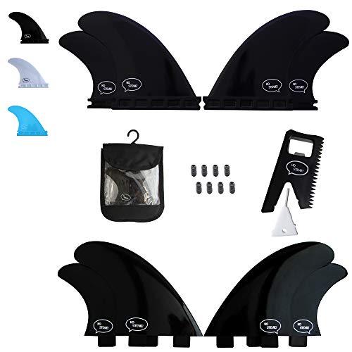 サーフィン フィン マリンスポーツ 【送料無料】Ho Stevie! Fiberglass Reinforced Polymer Surfboard Fins - Quad (4 Fins) FCS or Futures Sizes, Choose Color (Black, FCS)サーフィン フィン マリンスポーツ
