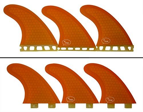 サーフィン フィン マリンスポーツ Thruster Surfboard Fins (3 Fins) - Perfect Flex with Honeycomb (Orange, FCS)サーフィン フィン マリンスポーツ