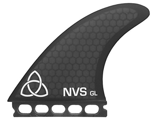 サーフィン フィン マリンスポーツ Naked Viking Surf Large GL Thruster Surfboard Fins (Set of 3) Smoked, Futures Baseサーフィン フィン マリンスポーツ