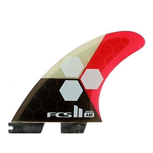 サーフィン フィン マリンスポーツ AM FCS II AM PC Tri Fin Set - Large, Teal / Blackサーフィン フィン マリンスポーツ AM