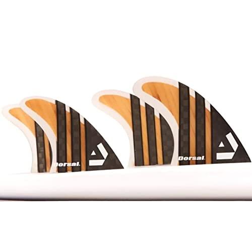 サーフィン フィン マリンスポーツ VENTRAL-CS5-FC4-Bamboo Dorsal Surfboard Fins Carbon (Bamboo) Quad Set (4) Honeycomb FCS Baseサーフィン フィン マリンスポーツ VENTRAL-CS5-FC4-Bamboo