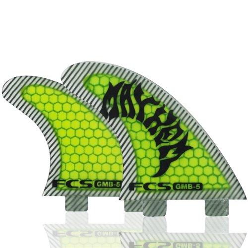 サーフィン フィン マリンスポーツ 1171-159-28-R 【送料無料】FCS GMB Performance Core Five Fin Large Yellowサーフィン フィン マリンスポーツ 1171-159-28-R