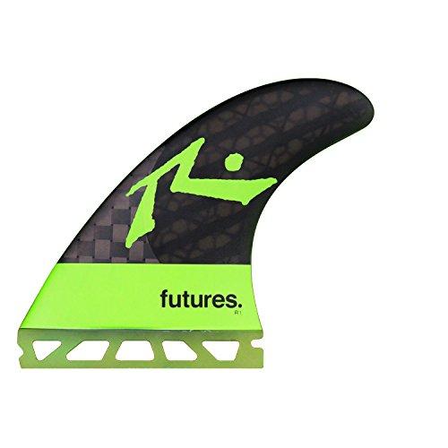 サーフィン フィン マリンスポーツ Futures Fins - Rusty R1 Blackstix 3.0 Thrusterサーフィン フィン マリンスポーツ