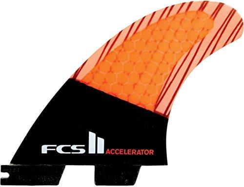 サーフィン フィン マリンスポーツ finfcstf03 【送料無料】Fcs Men's II Accelerator PC Carbon Tri Fin Set, Multi, Smallサーフィン フィン マリンスポーツ finfcstf03