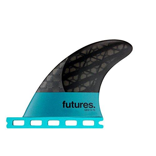 サーフィン フィン マリンスポーツ Futures Fins - QD2 3.75 Blackstix 3.0 Quad Rear Fin Pairサーフィン フィン マリンスポーツ