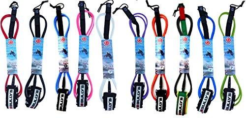 サーフィン リーシュコード マリンスポーツ Bully's Regular Surfboard Leash - Choice of Size and Color (Red, 10')サーフィン リーシュコード マリンスポーツ