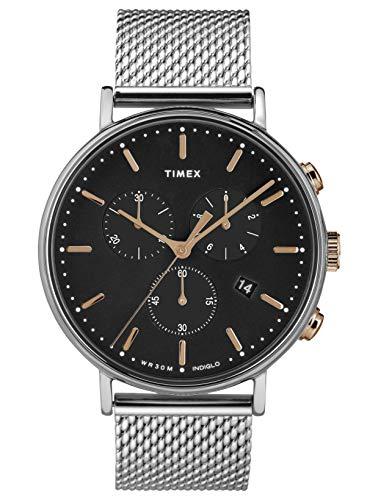 タイメックス 腕時計 メンズ 【送料無料】Timex Mens Chronograph Quartz Watch with Stainless Steel Strap TW2T11400タイメックス 腕時計 メンズ