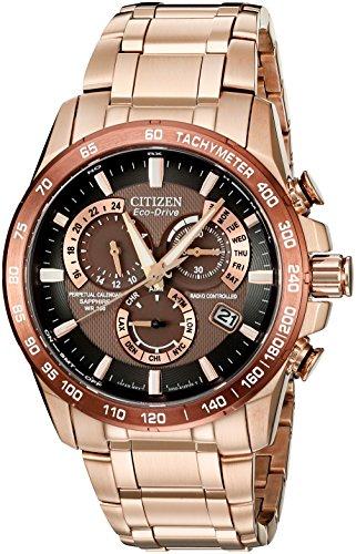 シチズン 逆輸入 海外モデル 海外限定 アメリカ直輸入 AT4106-52X Citizen Men's Eco-Drive Perpetual Chrono Atomic Timekeeping Rose Gold-Tone Watch, AT4106-52Xシチズン 逆輸入 海外モデル 海外限定 アメリカ直輸入 AT4106-52X