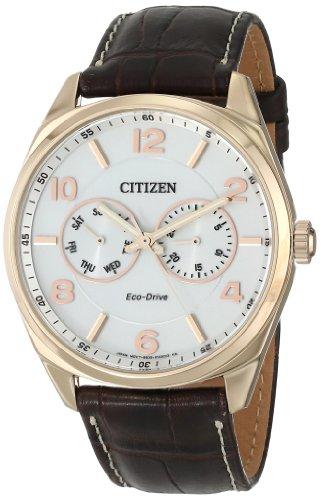 シチズン 逆輸入 海外モデル 海外限定 アメリカ直輸入 AO9023-01A 【送料無料】Citizen Men's Eco-Drive Stainless Steel and Leather Watch, AO9023-01Aシチズン 逆輸入 海外モデル 海外限定 アメリカ直輸入 AO9023-01A