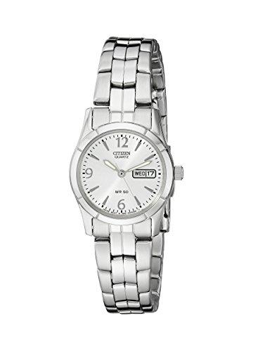 シチズン 逆輸入 海外モデル 海外限定 アメリカ直輸入 EQ0540-57A 【送料無料】Citizen Women's Quartz Silver-Tone Watch with Day/Date display, EQ0540-57Aシチズン 逆輸入 海外モデル 海外限定 アメリカ直輸入 EQ0540-57A
