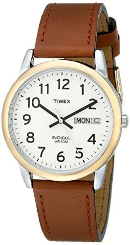 タイメックス 腕時計 メンズ T20011 【送料無料】Timex Men's T20011 Easy Reader Brown Leather Strap Watchタイメックス 腕時計 メンズ T20011