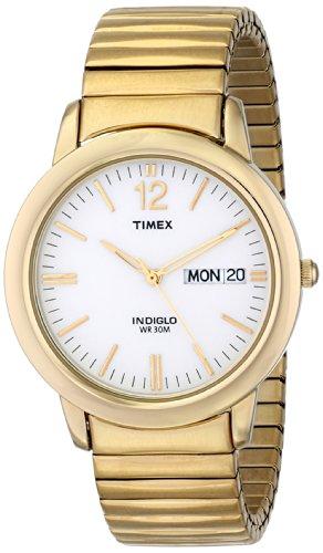タイメックス 腕時計 メンズ T21942 【送料無料】Timex Men's T21942 Chambers Street Gold-Tone Stainless Steel Expansion Band Watchタイメックス 腕時計 メンズ T21942