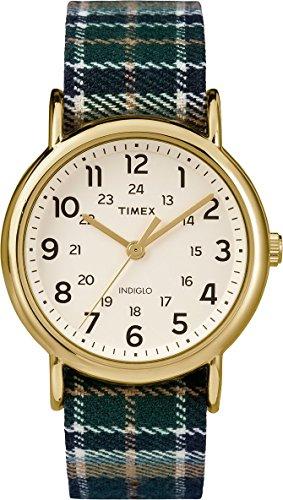 腕時計 タイメックス メンズ TW2P89500A 【送料無料】Timex TW2P89500 Unisex Indiglo Weekender Slip-Thu Plaid Fabric Strap Watch腕時計 タイメックス メンズ TW2P89500A