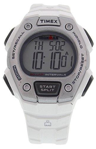 腕時計 タイメックス メンズ TW5K88100E4 【送料無料】Timex Mens TW5K88100 Ironman Classic Mid Size 30 Lap White Resin Strap Watch腕時計 タイメックス メンズ TW5K88100E4