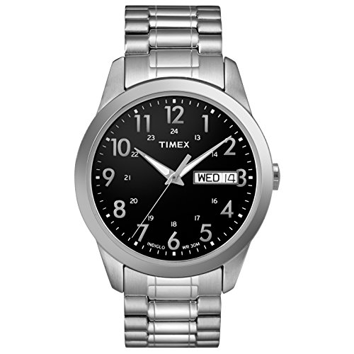 タイメックス 腕時計 メンズ T2M932 【送料無料】Timex Men's T2M932 South Street Sport Black/Silver-Tone Stainless Steel Expansion Band Watchタイメックス 腕時計 メンズ T2M932