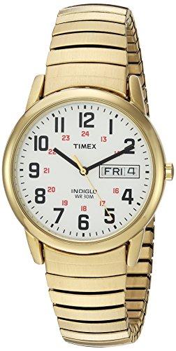 腕時計 タイメックス メンズ T2N092 【送料無料】Timex Men's T2N092 Easy Reader 35mm Gold-Tone Extra-Long Stainless Steel Expansion Band Watch腕時計 タイメックス メンズ T2N092
