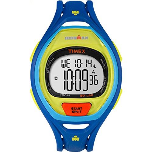 腕時計 タイメックス メンズ TW5M01600 【送料無料】Timex Unisex TW5M01600 Ironman Sleek 50 Color Block Blue Resin Strap Watch腕時計 タイメックス メンズ TW5M01600