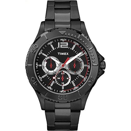 腕時計 タイメックス メンズ TW2P87700 【送料無料】Timex Men's TW2P87700 Taft Street Multifunction Black Stainless Steel Bracelet Watch腕時計 タイメックス メンズ TW2P87700