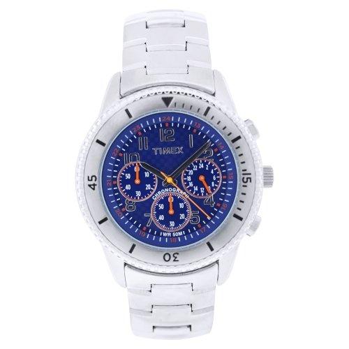 タイメックス 腕時計 メンズ T2N1616K 【送料無料】Timex Men's T2N161 Stainless Steel Analog with Blue Dial Watchタイメックス 腕時計 メンズ T2N1616K