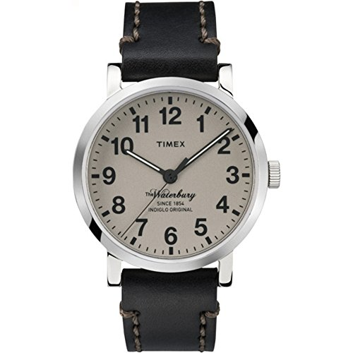 タイメックス 腕時計 メンズ TW2P58800 【送料無料】Timex Men's 'The Waterbury' Quartz Stainless Steel and Leather Dress Watch, Color:Black (Model: TW2P58800ZA)タイメックス 腕時計 メンズ TW2P58800