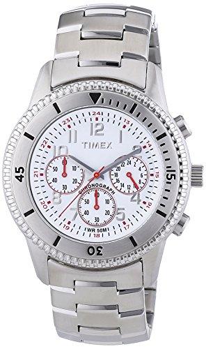 タイメックス 腕時計 メンズ T2N160 Timex Men's T2N160 Premium Chronograph Silver-Tone Stainless Steel Bracelet White Dial Watchタイメックス 腕時計 メンズ T2N160