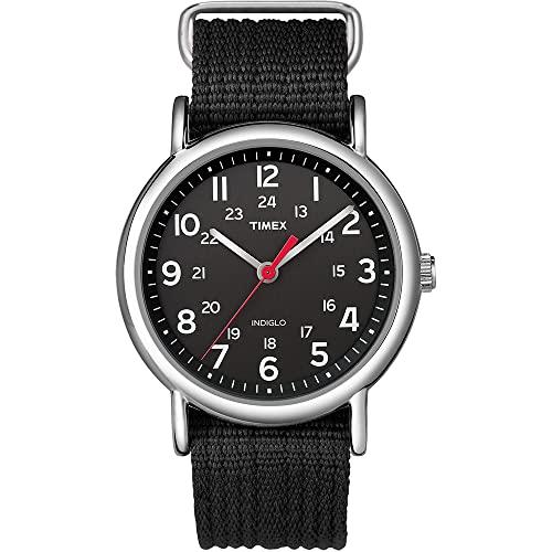 タイメックス 腕時計 メンズ T2N647 【送料無料】Timex Unisex T2N647 Weekender 38mm Black Nylon Slip-Thru Strap Watchタイメックス 腕時計 メンズ T2N647
