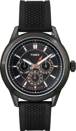 腕時計 タイメックス メンズ T2P179PF 【送料無料】Timex T2P179 Mens Multi All Black Silicone Watch腕時計 タイメックス メンズ T2P179PF