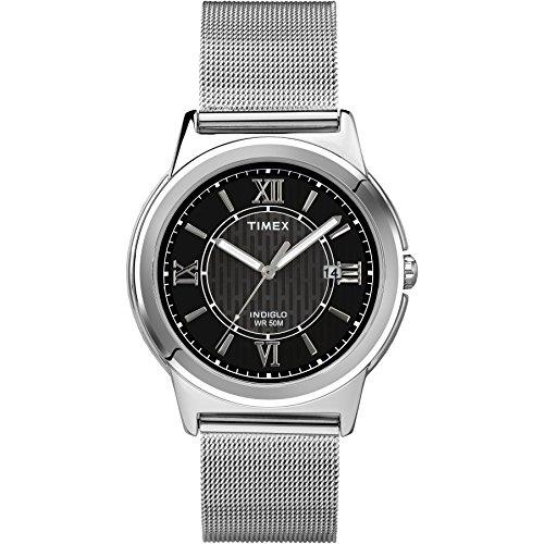 タイメックス 腕時計 メンズ T2P5199J 【送料無料】Timex Men's T2P5199J Main Street Silver-Tone Dress Watchタイメックス 腕時計 メンズ T2P5199J