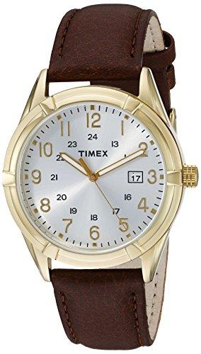 タイメックス 腕時計 メンズ TW2P766009J 【送料無料】Timex Men's TW2P76600 Easton Avenue Brown/Gold-Tone Leather Strap Watchタイメックス 腕時計 メンズ TW2P766009J