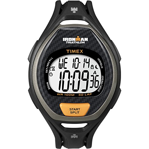 タイメックス 腕時計 メンズ T54281 【送料無料】Timex Men's T54281 Ironman Sleek 50 Full-Size Black/Silver-Tone Resin Strap Watchタイメックス 腕時計 メンズ T54281
